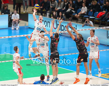 Cucine Lube Banca Marche Civitanova - Diatec Trentino SemiFinale Del Monte® Coppa Italia 2015/16.  Mediolanum Forum Milano, 06.02.2016 FOTO: Elena Zanutto © 2016 Volleyfoto.it, all rights reserved [id:20160206.4B2A8652]