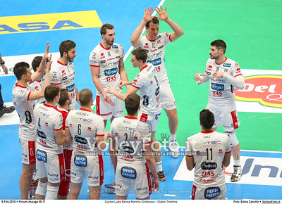 Cucine Lube Banca Marche Civitanova - Diatec Trentino SemiFinale Del Monte® Coppa Italia 2015/16.  Mediolanum Forum Milano, 06.02.2016 FOTO: Elena Zanutto © 2016 Volleyfoto.it, all rights reserved [id:20160206.4B2A8596]