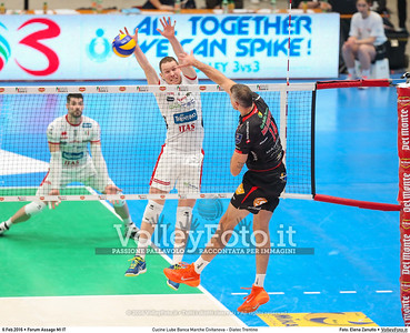 Cucine Lube Banca Marche Civitanova - Diatec Trentino SemiFinale Del Monte® Coppa Italia 2015/16.  Mediolanum Forum Milano, 06.02.2016 FOTO: Elena Zanutto © 2016 Volleyfoto.it, all rights reserved [id:20160206.4B2A8656]