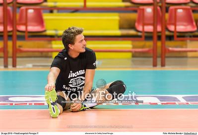 Federico TOSI [3] durante allenamento Sir Safety Conad Perugia presso PalaEvangelisti Perugia IT, 24 agosto 2016 - Foto di Michele Benda [_MBK3596]