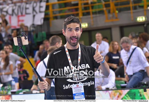 durante «Azimut Modena - Sir Safety Conad Perugia» Finale Del Monte® SuperCoppa presso PalaPanini Modena IT, 25 settembre 2016 - Foto di Michele Benda [MB5_3678]