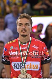 Federico TOSI [3] durante Premiazioni Del Monte® SuperCoppa presso PalaPanini Modena IT, 25 settembre 2016 - Foto di Michele Benda [MB5_4460]