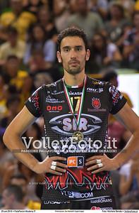 Emanuele BIRARELLI [17] durante Premiazioni Del Monte® SuperCoppa presso PalaPanini Modena IT, 25 settembre 2016 - Foto di Michele Benda [MB5_4444]