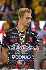 Alexander BERGER [12] durante Premiazioni Del Monte® SuperCoppa presso PalaPanini Modena IT, 25 settembre 2016 - Foto di Michele Benda [MB5_4452]