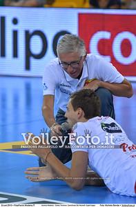 durante «Azimut Modena - Diatec Trentino» Semifinale Del Monte® SuperCoppa presso PalaPanini Modena IT, 24 settembre 2016 - Foto di Michele Benda [MB5_2224]