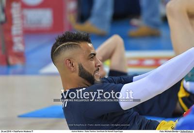 durante «Azimut Modena - Diatec Trentino» Semifinale Del Monte® SuperCoppa presso PalaPanini Modena IT, 24 settembre 2016 - Foto di Michele Benda [MB5_2237]