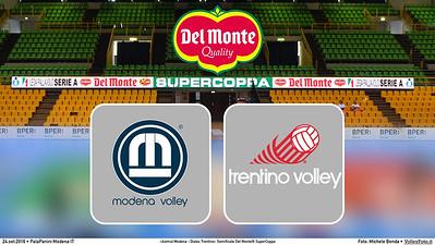 durante «Azimut Modena - Diatec Trentino» Semifinale Del Monte® SuperCoppa presso PalaPanini Modena IT, 24 settembre 2016 - Foto di Michele Benda [CoverSemifinale1]