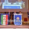 Consegna degli stendardi al Vice Presidente biancorosso Albino Massaccesi e al Direttore Sportivo Giuseppe Cormio per onorare la doppietta della Cucine Lube Civitanova nella passata stagione