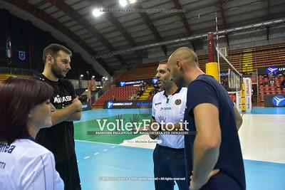 Luciano DECECCO e Andrea GIOVI durante  Memorial Valter Baldaccini presso PalaBarton Perugia IT, 25 settembre 2018 - Foto di Michele Benda per VolleyFoto [Riferimento file: 2018-09-25/750_9637]