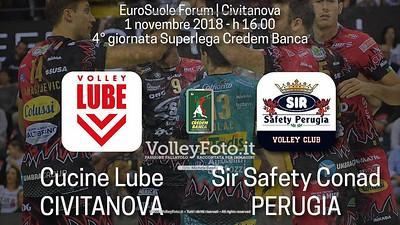 4ª giornata di andata, Campionato Italiano di Pallavolo Maschile SuperLega Credem Banca