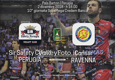 Sir Safety Conad Perugia - Consar Ravenna / 10ª giornata di andata, Campionato Italiano di Pallavolo Maschile SuperLega Credem Banca IT, 2 dicembre 2018 - Foto: Michele Benda per VolleyFoto.it [Riferimento file: 2018-12-02/Cover_A10]