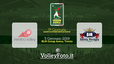 Itas Trentino - Sir Safety Conad Perugia / 3ª giornata di ritorno, Campionato Italiano di Pallavolo Maschile SuperLega Credem Banca IT, 5 gennaio 2019 - Foto: Michele Benda per VolleyFoto.it [Riferimento file: 2019-01-05/Cover R03]