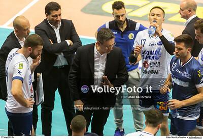durante presso , 17 marzo 2019. Foto di: Mari.ka Torcivia per VolleyFoto.it [riferimento file: 2019-03-18/_65A3319]