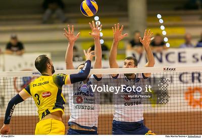 durante presso , 17 marzo 2019. Foto di: Mari.ka Torcivia per VolleyFoto.it [riferimento file: 2019-03-18/_65A3534]
