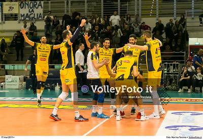 durante presso , 17 marzo 2019. Foto di: Mari.ka Torcivia per VolleyFoto.it [riferimento file: 2019-03-18/_65A3814]