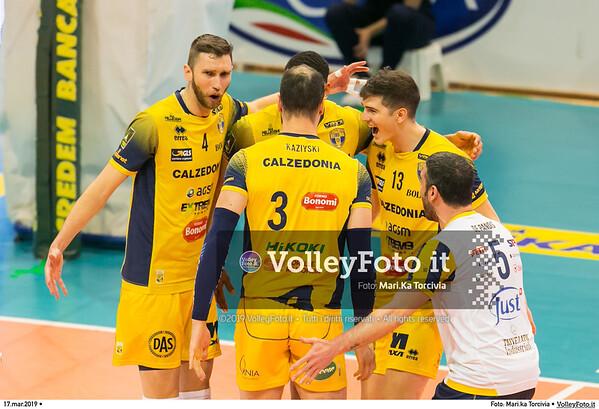 durante presso , 17 marzo 2019. Foto di: Mari.ka Torcivia per VolleyFoto.it [riferimento file: 2019-03-18/_65A3482]