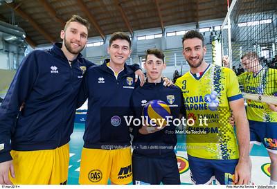 durante presso , 17 marzo 2019. Foto di: Mari.Ka Torcivia per VolleyFoto.it [riferimento file: 2019-03-18/_MG_7754]