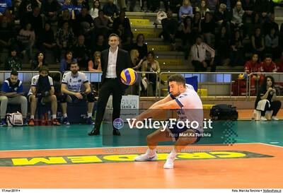 durante presso , 17 marzo 2019. Foto di: Mari.ka Torcivia per VolleyFoto.it [riferimento file: 2019-03-18/_65A3803]