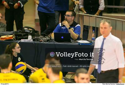 durante presso , 17 marzo 2019. Foto di: Mari.ka Torcivia per VolleyFoto.it [riferimento file: 2019-03-18/_65A3583]