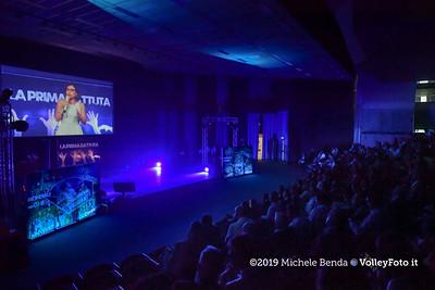"""""""La prima battuta"""" evento di presentazione del 75º campionato Lega Pallavolo Serie A IT, 18 luglio 2019. Foto: Michele Benda per VolleyFoto.it [riferimento file: 2019-07-18/ND5_1626]"""