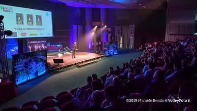 """""""La prima battuta"""" evento di presentazione del 75º campionato Lega Pallavolo Serie A IT, 18 luglio 2019. Foto: Michele Benda per VolleyFoto.it [riferimento file: 2019-07-18/ND5_1629]"""