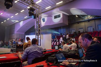 """""""La prima battuta"""" evento di presentazione del 75º campionato Lega Pallavolo Serie A IT, 18 luglio 2019. Foto: Michele Benda per VolleyFoto.it [riferimento file: 2019-07-18/ND5_1609]"""