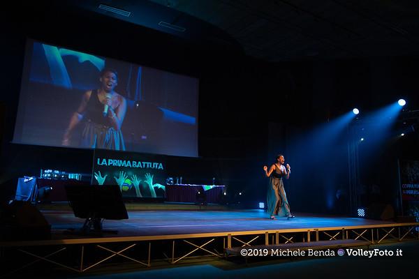 """""""La prima battuta"""" evento di presentazione del 75º campionato Lega Pallavolo Serie A IT, 18 luglio 2019. Foto: Michele Benda per VolleyFoto.it [riferimento file: 2019-07-18/ND5_1619-4]"""