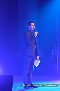 """""""La prima battuta"""" evento di presentazione del 75º campionato Lega Pallavolo Serie A IT, 18 luglio 2019. Foto: Michele Benda per VolleyFoto.it [riferimento file: 2019-07-18/NZ6_1013]"""
