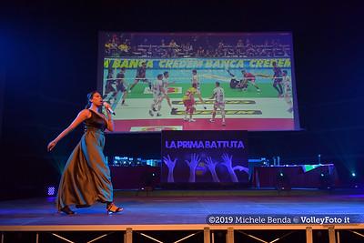 """""""La prima battuta"""" evento di presentazione del 75º campionato Lega Pallavolo Serie A IT, 18 luglio 2019. Foto: Michele Benda per VolleyFoto.it [riferimento file: 2019-07-18/ND5_1644]"""