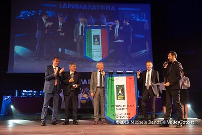 """""""La prima battuta"""" evento di presentazione del 75º campionato Lega Pallavolo Serie A IT, 18 luglio 2019. Foto: Michele Benda per VolleyFoto.it [riferimento file: 2019-07-18/ND5_1682]"""