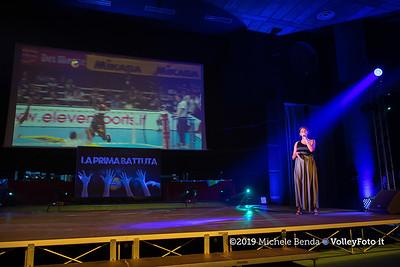 """""""La prima battuta"""" evento di presentazione del 75º campionato Lega Pallavolo Serie A IT, 18 luglio 2019. Foto: Michele Benda per VolleyFoto.it [riferimento file: 2019-07-18/ND5_1650]"""