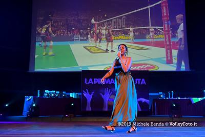 """""""La prima battuta"""" evento di presentazione del 75º campionato Lega Pallavolo Serie A IT, 18 luglio 2019. Foto: Michele Benda per VolleyFoto.it [riferimento file: 2019-07-18/ND5_1639]"""