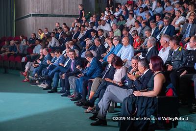 """""""La prima battuta"""" evento di presentazione del 75º campionato Lega Pallavolo Serie A IT, 18 luglio 2019. Foto: Michele Benda per VolleyFoto.it [riferimento file: 2019-07-18/ND5_1611]"""