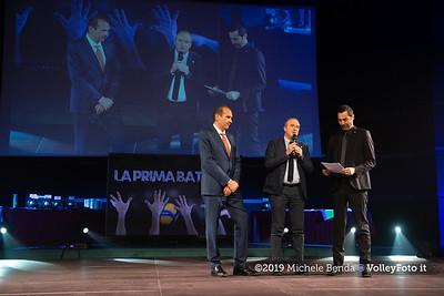 """""""La prima battuta"""" evento di presentazione del 75º campionato Lega Pallavolo Serie A IT, 18 luglio 2019. Foto: Michele Benda per VolleyFoto.it [riferimento file: 2019-07-18/ND5_1632]"""
