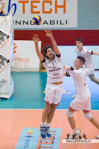 un alzata di Marco Visentin Gherardi SVI Città di Castello PG - Sieco Service Ortona CH  22ª Giornata, Campionato Italiano di Volley Maschile, Serie A2, 2012/13