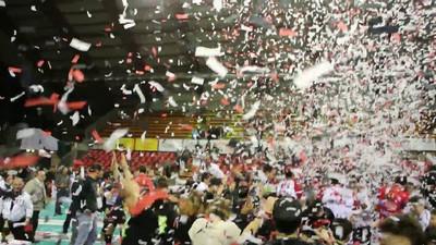 Sir Safety Perugia - Reggio Emilia / Campionato Italiano di Volley maschile, Serie A2, 15a giornata di ritorno regolar season 2011/2012. Festa per la promozione in Serie A1