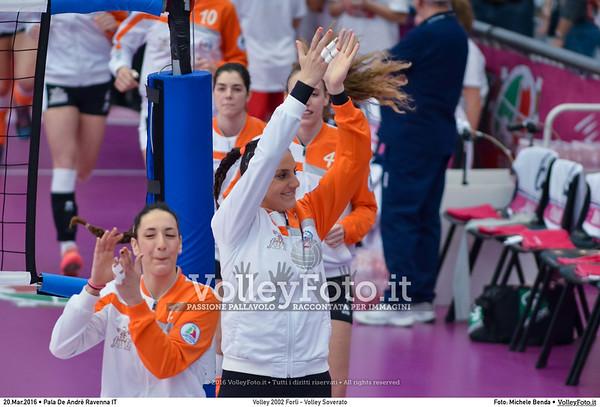 Volley 2002 Forlì - Volley Soverato FINALE A2 Coppa Italia 2016.  Pala De Andrè Ravenna 20.03.2016. FOTO: Michele Benda © 2016 Volleyfoto.it, all rights reserved [id:20160320.MBQ_7702]