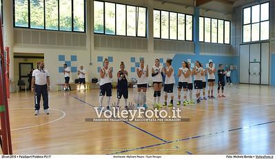 durante Amichevole «MyCicero Pesaro - Tuum Perugia» presso PalaSport Piobbico PU IT, 28 settembre 2016 - Foto di Michele Benda [MB3_0947]