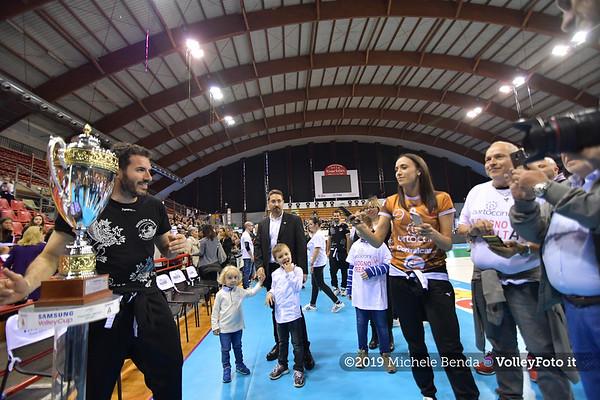 Premiazione BARTOCCINI GIOIELLERIE PERUGIA  per la promozione in SERIE A1 IT, 27 aprile 2019 - Foto: Michele Benda per VolleyFoto.it [Riferimento file: 2019-04-27/ND5_0826]
