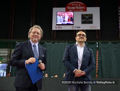 Premiazione BARTOCCINI GIOIELLERIE PERUGIA  per la promozione in SERIE A1 IT, 27 aprile 2019 - Foto: Michele Benda per VolleyFoto.it [Riferimento file: 2019-04-27/NZ6_3326]