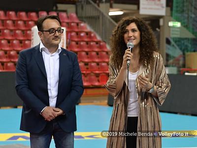 Premiazione BARTOCCINI GIOIELLERIE PERUGIA  per la promozione in SERIE A1 IT, 27 aprile 2019 - Foto: Michele Benda per VolleyFoto.it [Riferimento file: 2019-04-27/NZ6_3197]