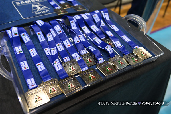Premiazione BARTOCCINI GIOIELLERIE PERUGIA  per la promozione in SERIE A1 IT, 27 aprile 2019 - Foto: Michele Benda per VolleyFoto.it [Riferimento file: 2019-04-27/NZ6_3127]