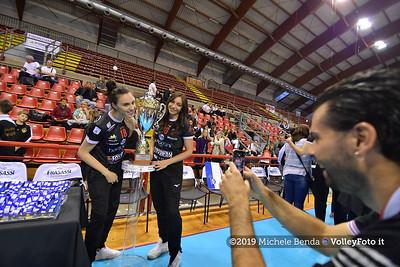 Premiazione BARTOCCINI GIOIELLERIE PERUGIA  per la promozione in SERIE A1 IT, 27 aprile 2019 - Foto: Michele Benda per VolleyFoto.it [Riferimento file: 2019-04-27/ND5_0830]