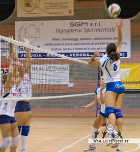 SGM Graficonsul SAN MARIANO PG - Lardini FILOTTRANO AN / 3a Giornata andata Campionato Italiano di Volley Femminile Serie B1 girone C - 2012/13