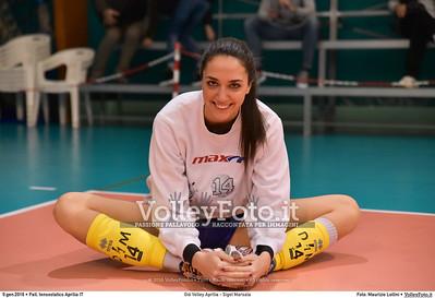 Giò Volley Aprilia - Sigel Marsala 11ª giornata Campionato Serie B1 Femminile 2015-16, girone D Pallone Tensostatico Aprilia LT, 09.01.2016 FOTO: Maurizio Lollini © 2016 Volleyfoto.it, all rights reserved [id:20160109.DSC_8195]