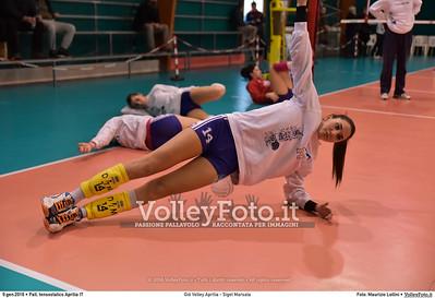 Giò Volley Aprilia - Sigel Marsala 11ª giornata Campionato Serie B1 Femminile 2015-16, girone D Pallone Tensostatico Aprilia LT, 09.01.2016 FOTO: Maurizio Lollini © 2016 Volleyfoto.it, all rights reserved [id:20160109.DSC_8204]