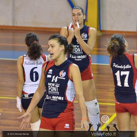 New Font F.lli Mori GUBBIO - GS Dannunziana PESCARA | 5ª giornata, Campionato Italiano di Volley Femminile, Serie B2 girone F [2013/14] (id: 2013.11.16._MBY0756)