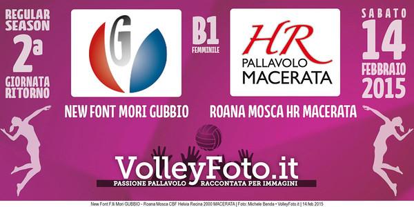 New Font F.lli Mori GUBBIO - Roana Mosca CBF Helvia Recina 2000 MACERATA