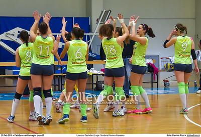 Liverani Castellari Lugo -Teodora Glomex Ravenna 16ª giornata Campionato Serie B2 Femminile 2015-16, girone D PalaBanca di Romagna Lugo RA, 20.02.2016 FOTO: Daniele Ricci © 2016 Volleyfoto.it, all rights reserved [id:20160220.B2F_TEO-25]
