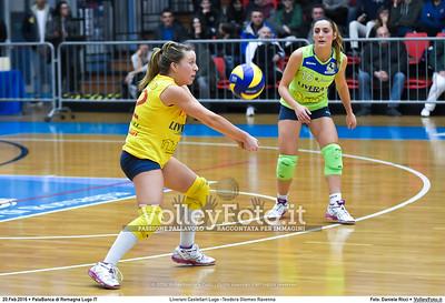 Liverani Castellari Lugo -Teodora Glomex Ravenna 16ª giornata Campionato Serie B2 Femminile 2015-16, girone D PalaBanca di Romagna Lugo RA, 20.02.2016 FOTO: Daniele Ricci © 2016 Volleyfoto.it, all rights reserved [id:20160220.B2F_TEO-29]